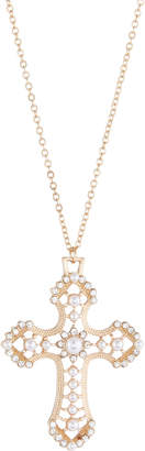 Berry Jewelry Crystal Cross Pendant Necklace