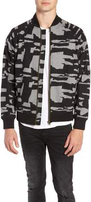Descendant of Thieves Grey Camo Zip Bomber Jacket