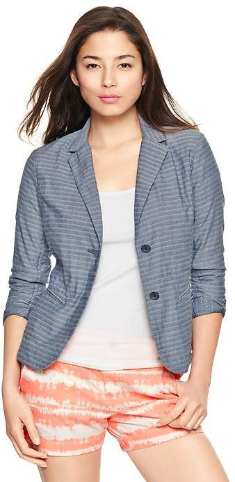 Gap Striped unstructured blazer