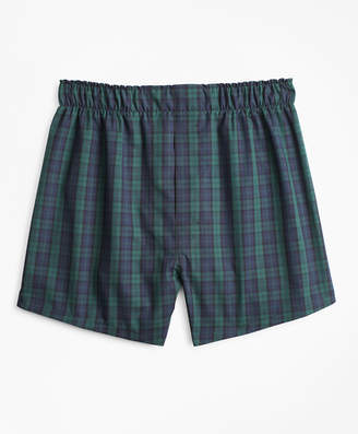 Brooks Brothers Boys Black Watch Plaid Boxers
