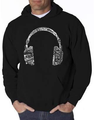 Pop Culture Men's Hoodie - Headphones - Languages