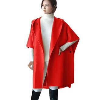 Under Armour HHmei Coats for Women, Women Loose Batwing Wool Poncho Winter Warm Coat Jacket Cloak Cape Parka Outwear, Plus Size Winter Coats for Women 18x-Medical lab Coats
