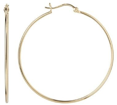 Gold Over Silver Large Hoop Earring