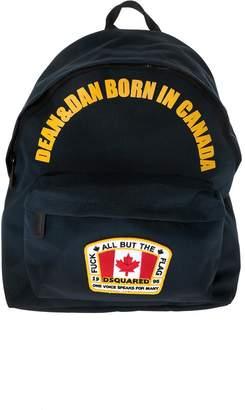 DSQUARED2 Dean & Dan Born In Canada Backpack