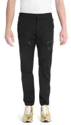 Versace Slim Zip Cargo Pants