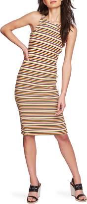 1 STATE 1.STATE Dialogue Stripe Body-Con Dress