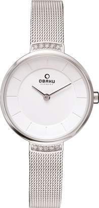 Obaku V177LECIMC Women's Dial Classic Analog Watch with 2 Hands