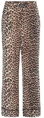 Ganni Printed georgette pants