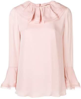 Tory Burch ruffled collar silk blouse