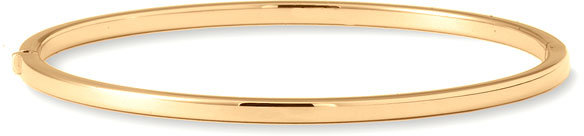 Roberto Coin Thin 18k Gold Oval Bangle