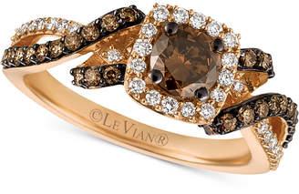 LeVian Le Vian Chocolatier Diamond Swirl Ring (1 ct. t.w.) in 14k Rose Gold