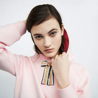 Maje Hooded sweatshirt with removable bow
