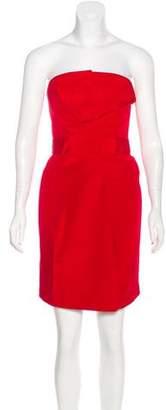 DSQUARED2 Strapless Silk Dress
