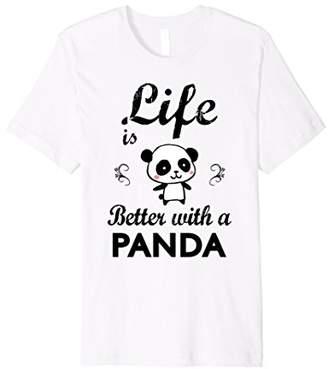 Life Is Better With A Panda T Shirt   Cute Panda Shirt