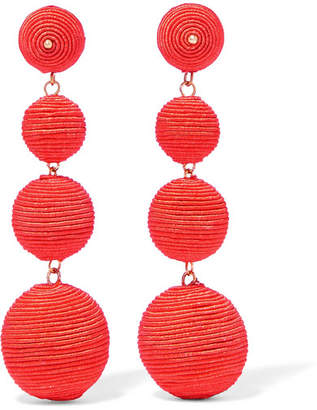 Kenneth Jay Lane Gold-plated Cord Earrings - Orange