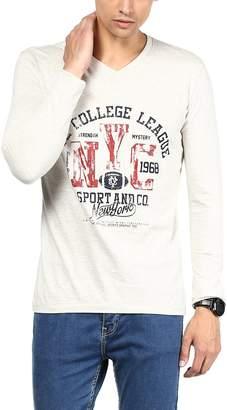 American Crew V-Neck Printed Full Sleeves T-Shirt - L (ACP15-L)