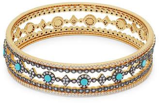 Freida Rothman Turquoise & Crystal Eternity Dot Bracelet