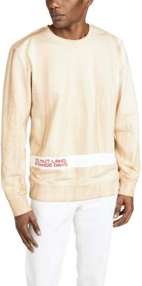 Helmut Lang Strange Days Tie Dye Crew Neck Sweatshirt
