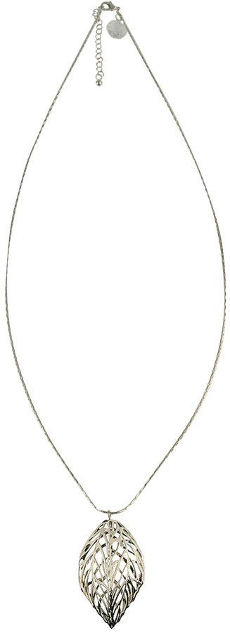 Cut-Out Leaf Pendant Necklace