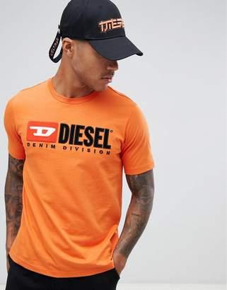 Diesel T-Just-Division industry logo t-shirt orange