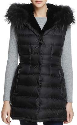 Dawn Levy Brittany Traveler Fur Trim Down Vest - 100% Exclusive
