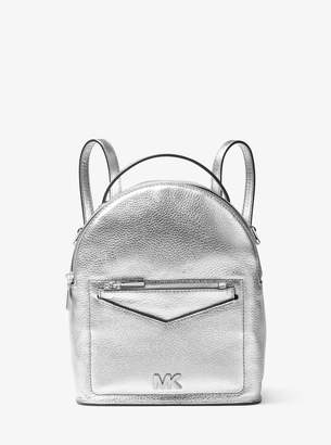 MICHAEL Michael Kors Jessa Small Metallic Pebbled Leather Convertible Backpack