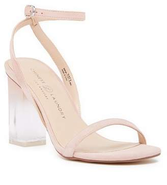 Chinese Laundry Shanie Clear Heel Leather Sandal
