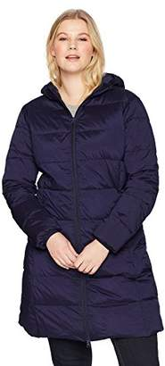 The Plus Project Women's Plus Size Lightweight Down Puffer Jacket with Hood 4X-Large