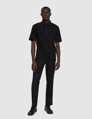 Need Panel Polo Shirt in Black