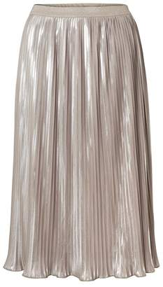 Oliver Bonas Nel Metallic Pleated Skirt
