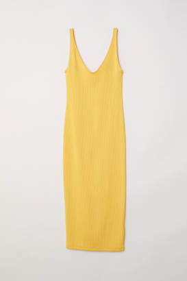 H&M Fitted Dress - Yellow