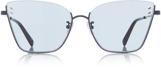Stella McCartney Sunglasses Square-Frame Silver-Tone Sunglasses