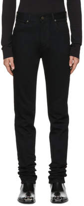 Calvin Klein Black High-Rise Straight Jeans
