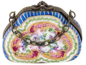 Limoges Porcelain Purse Trinket Box