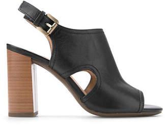 Geox Audalie Leather Slingback Sandals