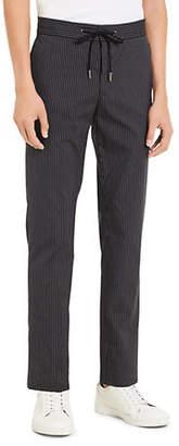 Calvin Klein Drawstring Pinstripe Pants