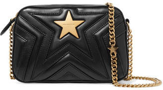 Stella McCartney Embellished Quilted Faux Leather Camera Bag - Black