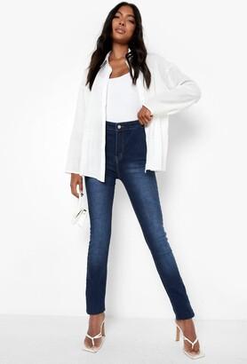 boohoo Tall 38 Leg High Waist Jeans