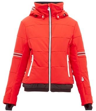 Toni Sailer Antonia Striped Soft Shell Ski Jacket - Womens - Red