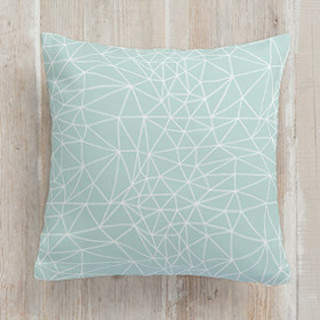 Geometric Net Square Pillow