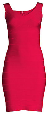 Herve Leger Women's Soft V-Neck Bandage Sheath Dress