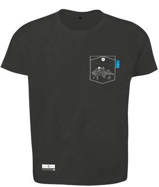 ANCHOR & CREW - Slate Grey Horizon Print Organic Cotton T-Shirt Mens