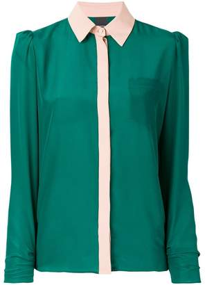 Pinko colour block shirt