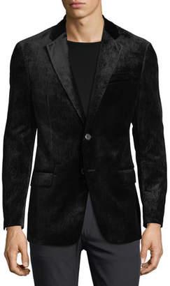 Armani Collezioni Notched-Lapel Velvet Dinner Jacket