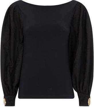 Mother of Pearl Organic Cotton-Wool Winifred Top
