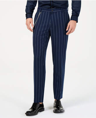 INC International Concepts I.n.c. Men Slim-Fit Pinstriped Chain Pants