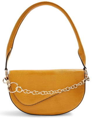 Topshop Sienna Chain Faux Leather Shoulder Bag
