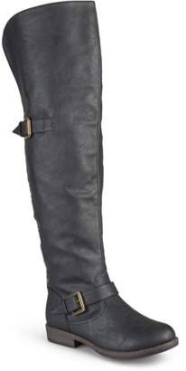 Co Brinley Womens Over-the-knee Buckle Studded Boots