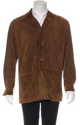 Loro Piana Kidskin Suede Button-Up Coat