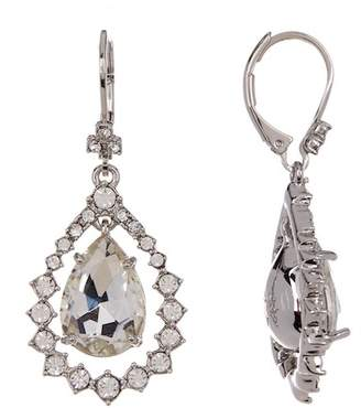 Marchesa Crystal Accented Pear Drop Earrings